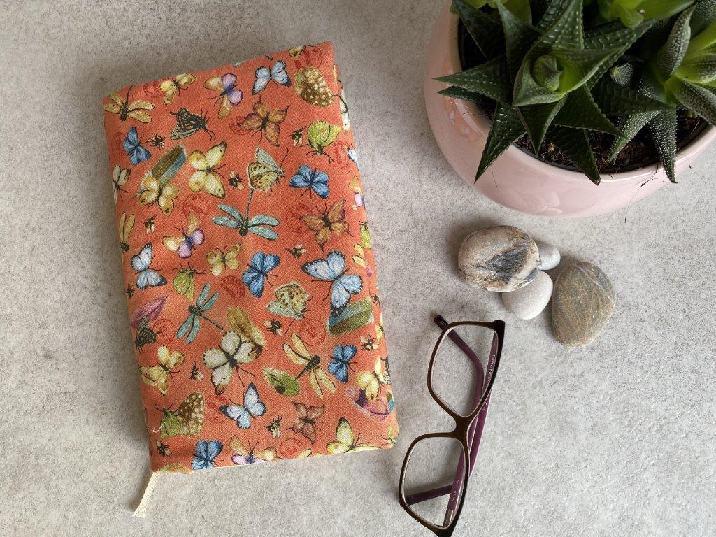 Oboustranný obal na knihu - Motýli