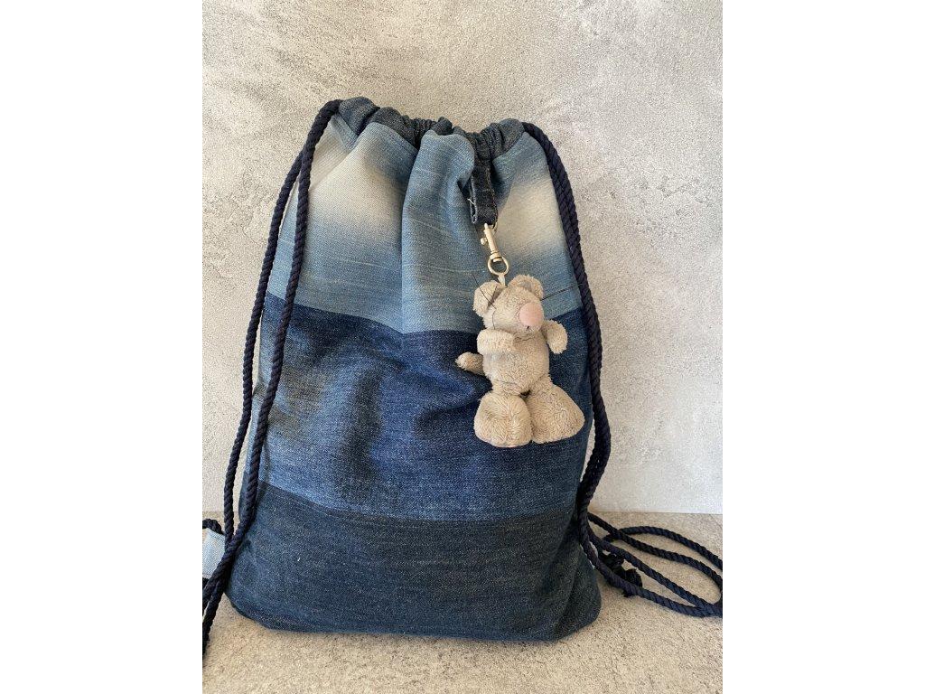 Recy batoh džínový