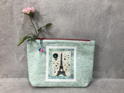Kosmetická taška - pouzdro - Jarní deštík v Paříži