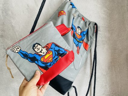 Batoh - Superman + pouzdro zdarma
