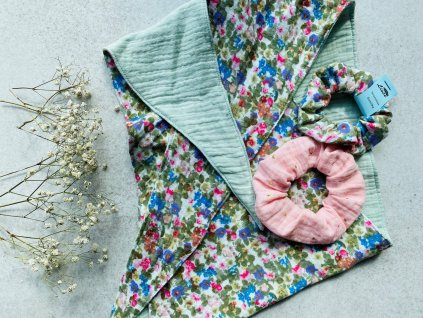 Multifunkční, oboustranný šátek - mušelínový