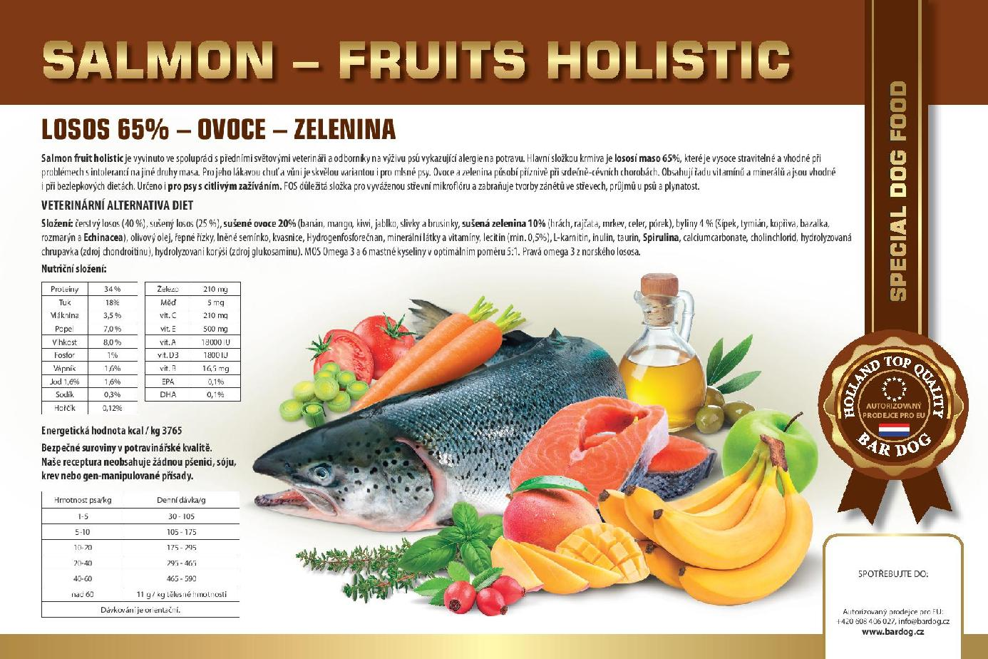 SALMON FRUIT HOLISTICnovinka