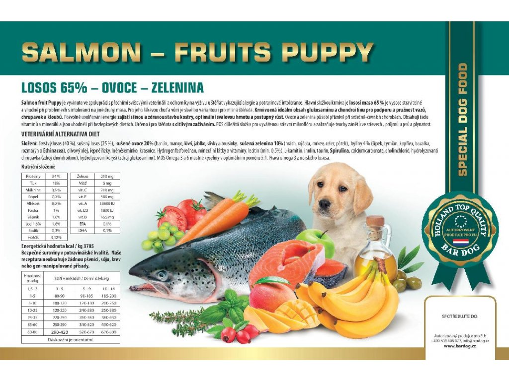 SALMON FRUITS PUPPY novinka