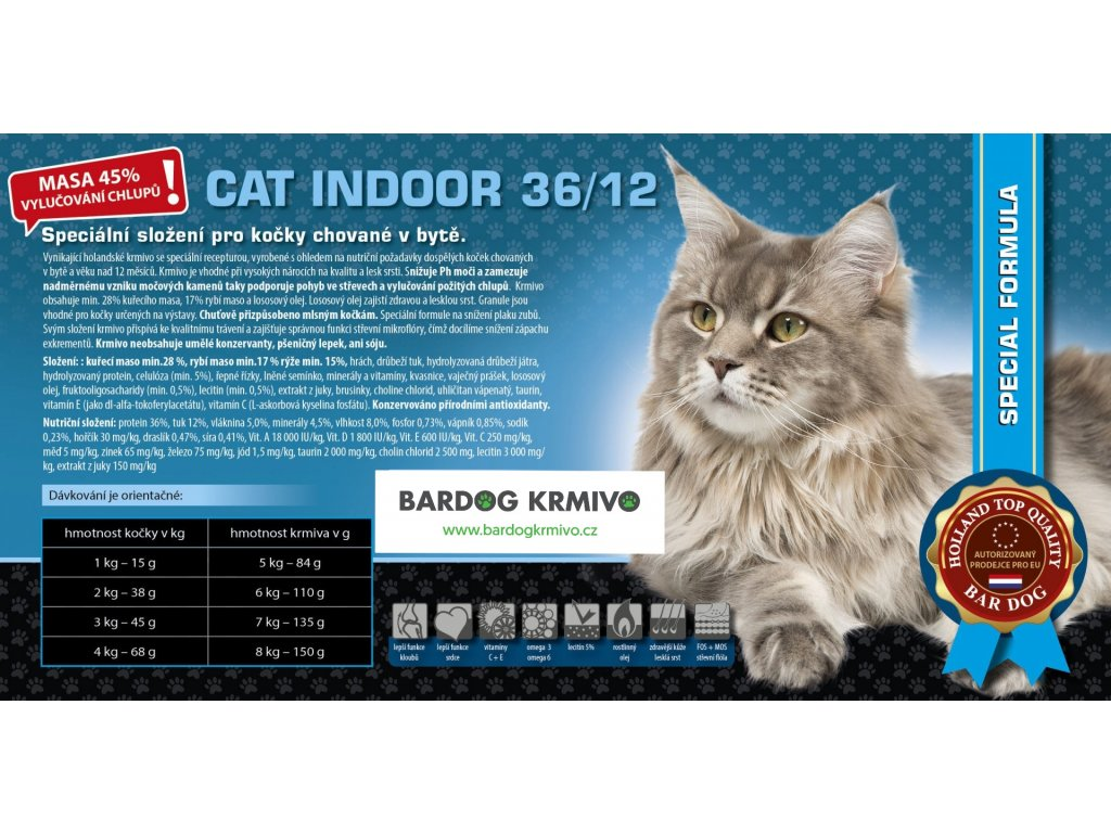 cat indoor 45% masa