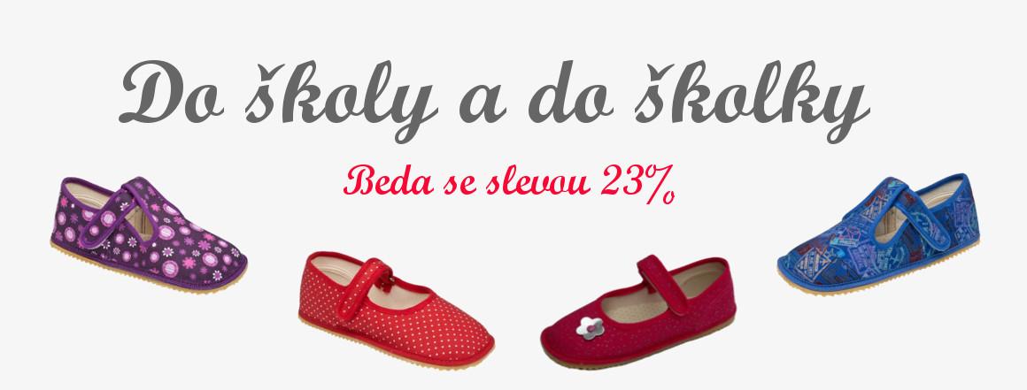 Přezůvky bačkory Beda barefoot sleva 23%
