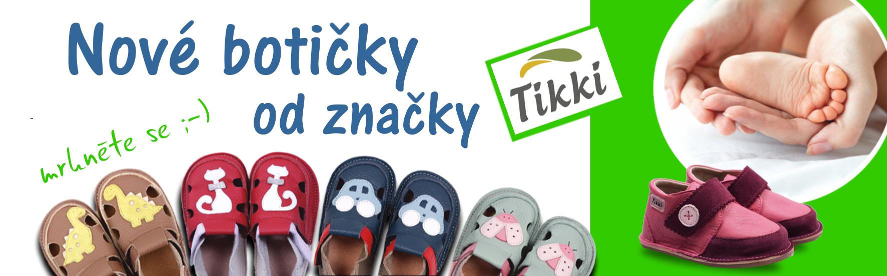 Nové botičky od značky Tikki shoes. Přezůvky, sandálky