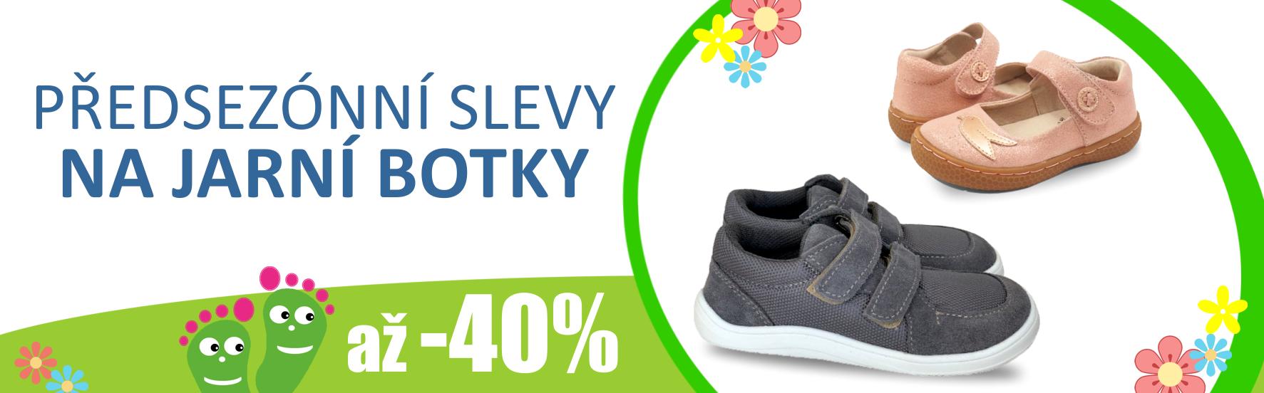 Předjarní slevy barefoot bot až 40%