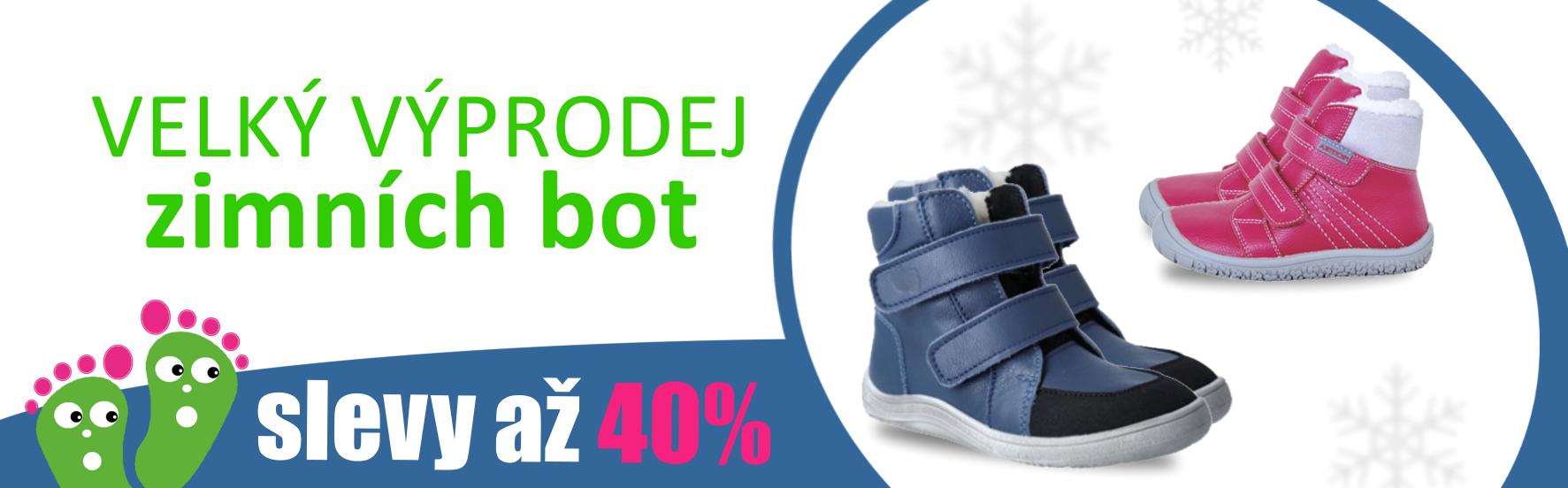 Výprodej zimních barefoot bot, slevy až 40%