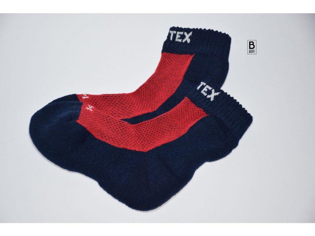 Dětské ponožky Surtex 80% merino  - červené JARO - PODZIM