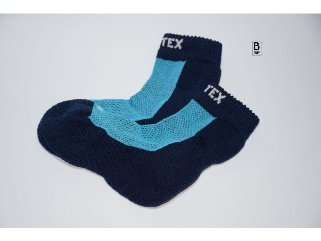 ec2a87ac9df Ponožky Surtex 80% merino pro dospělé - modré - Barefoot boty U Běželů