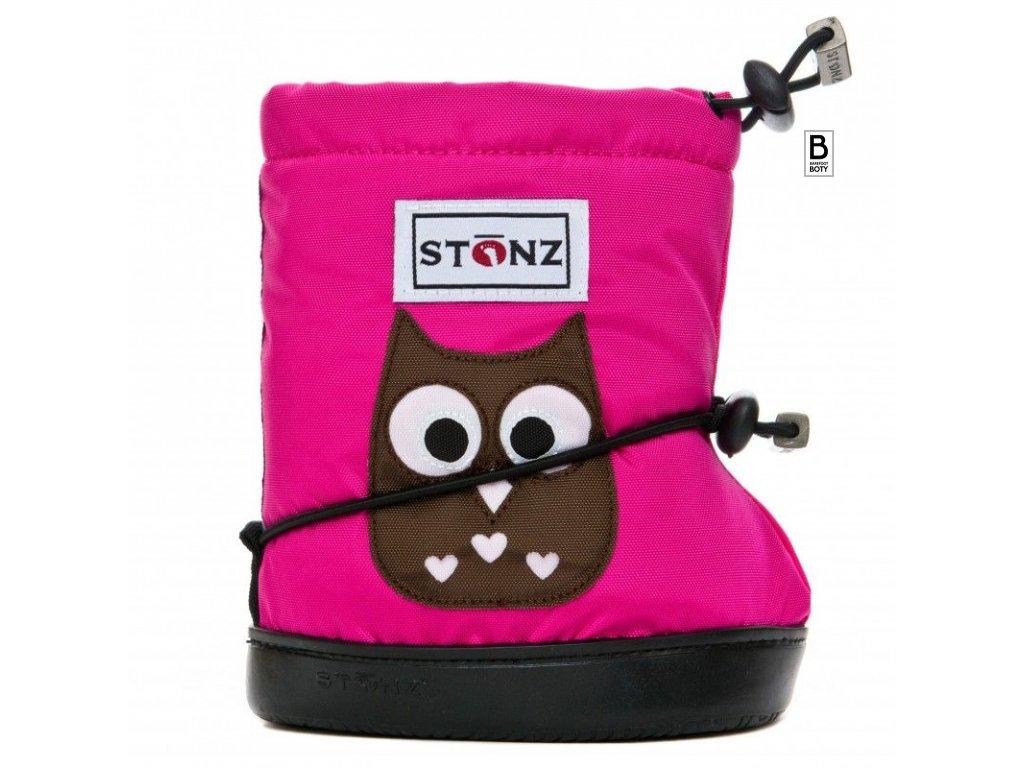 Stonz booties Toddler - Owl Fuchsia
