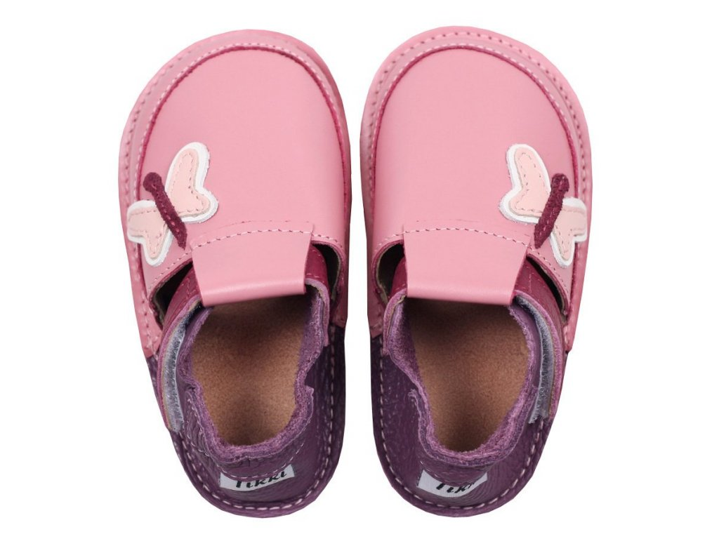 barefoot kids shoes butterflies 336 4
