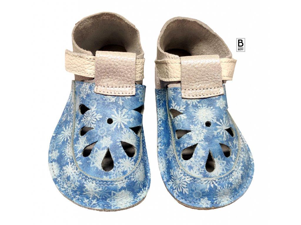 detske barefoot sandaly baby bare snowflake