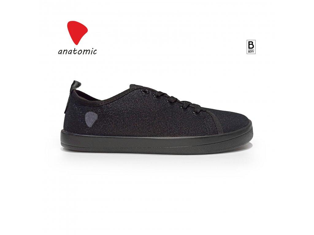 Barefoot tenisky Anatomic cerna cerna