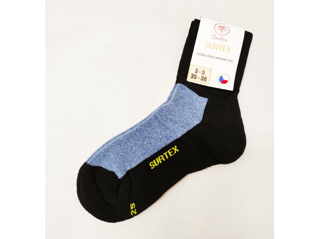 Ponožky Surtex 80% merino pro dospělé SPORT jeans