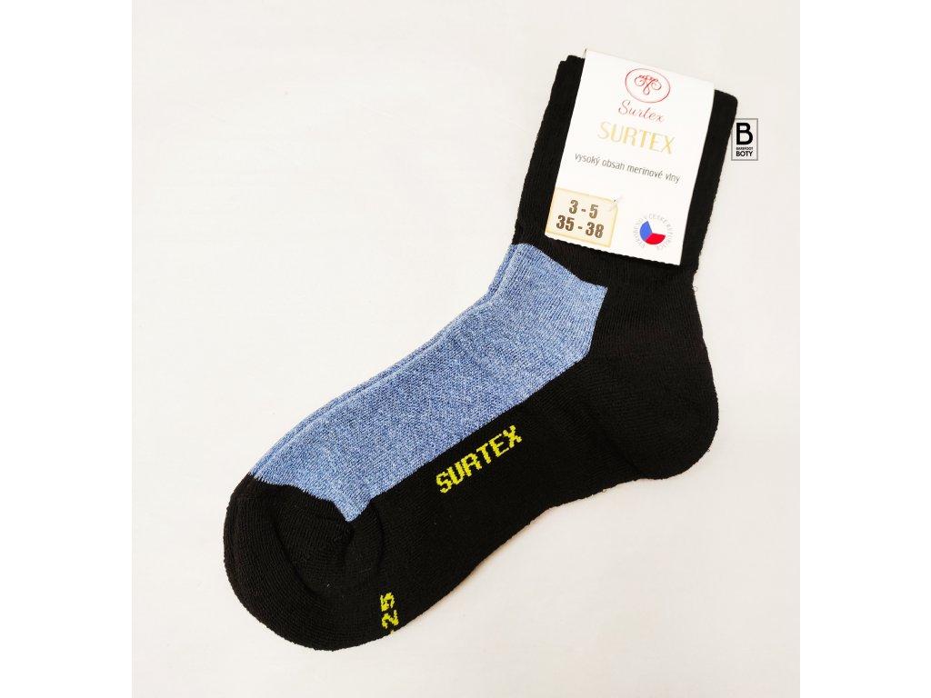 Ponožky Surtex 80% merino pro dospělé - volný lem jeans