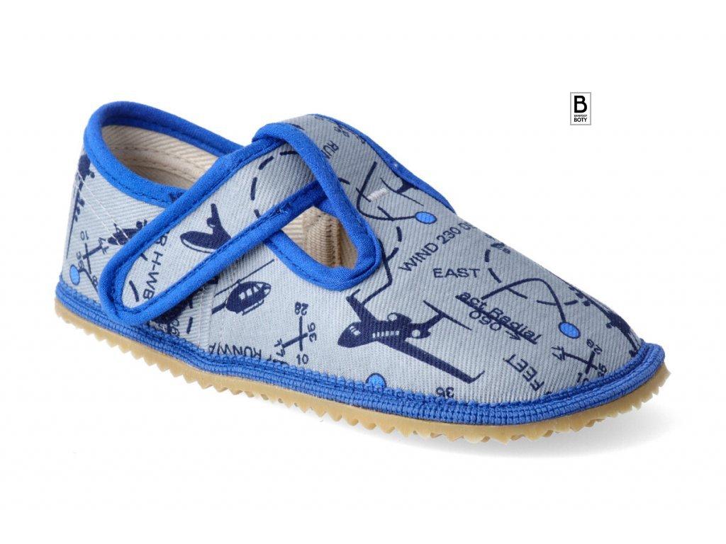 beda barefoot bačkory šedá letadla