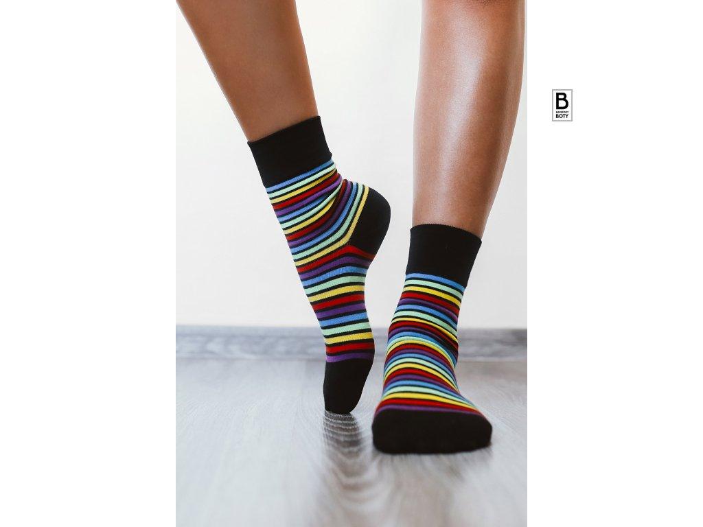barefoot ponozky be lenka duhove