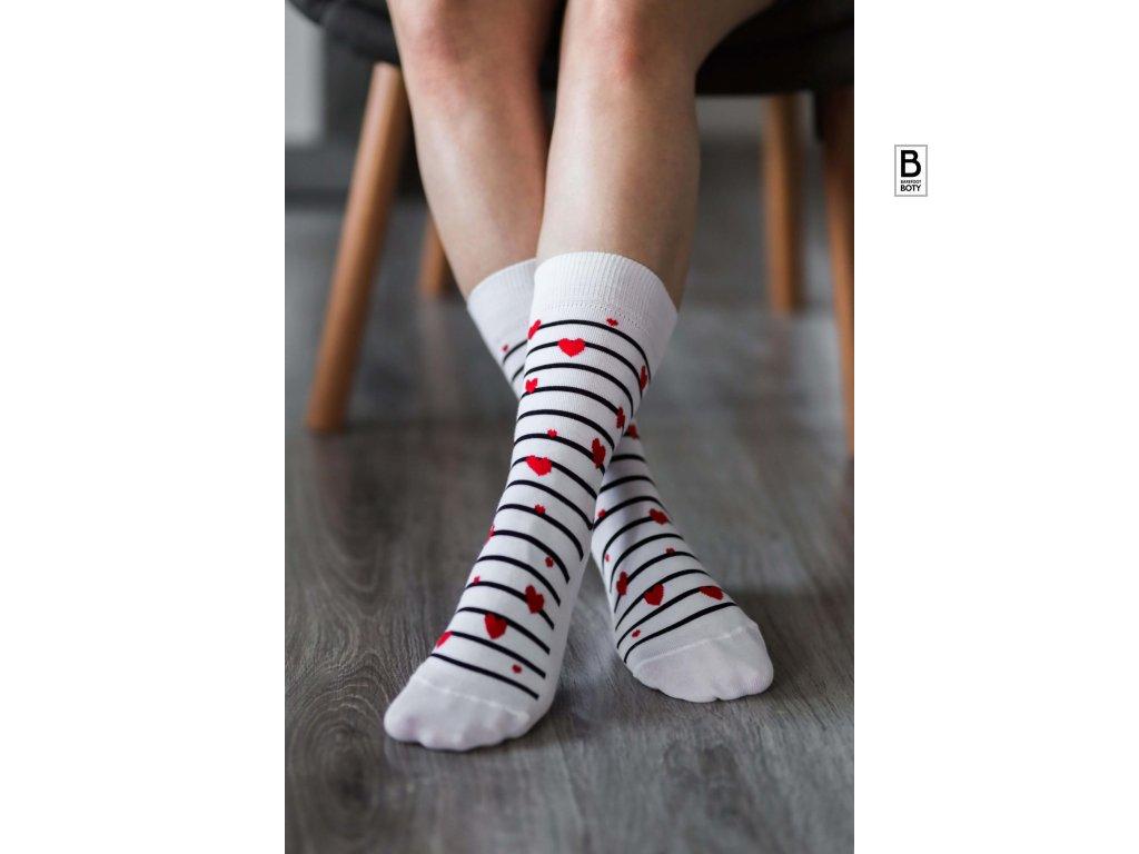 barefoot ponozky be lenka hearts