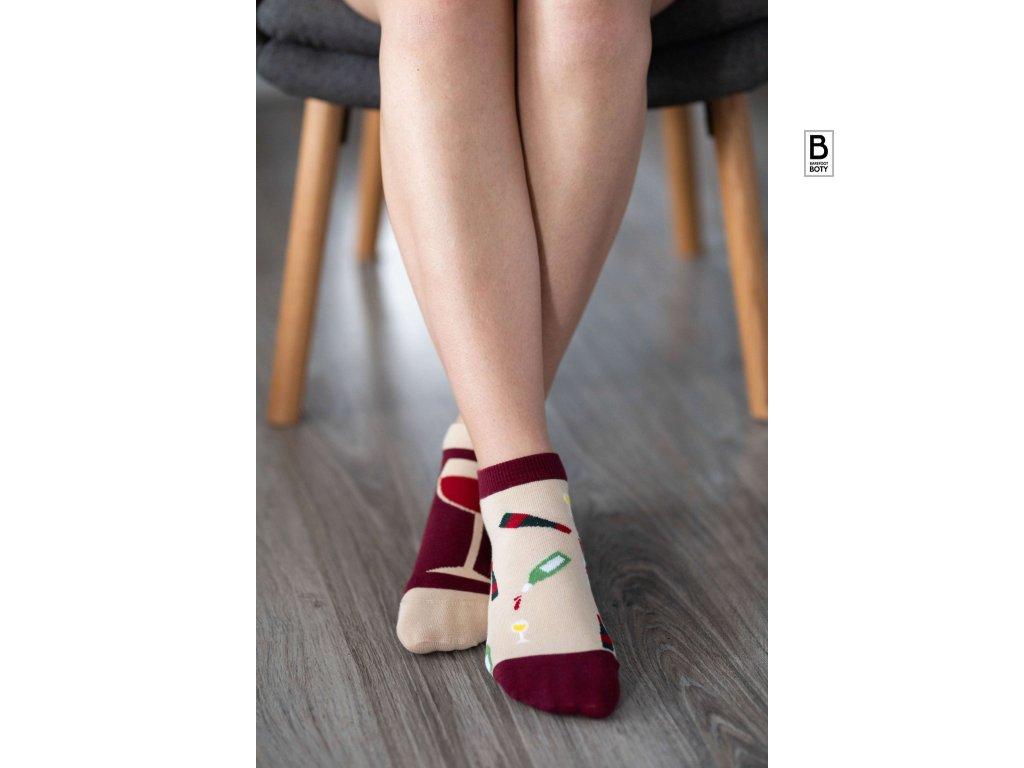 barefoot ponozky be lenka wine
