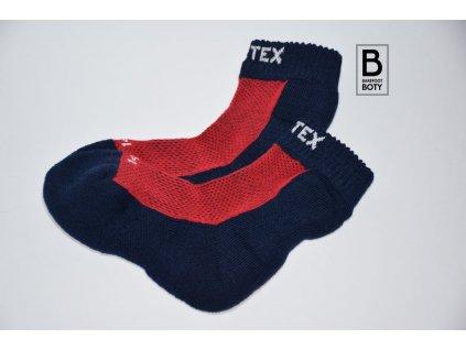 Dětské ponožky Surtex 80% merino  - červené