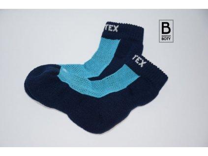 Dětské ponožky Surtex 80% merino  - modré JARO - PODZIM