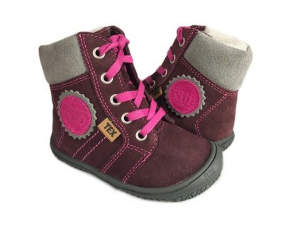 Filii barefoot EVEREST TEX WOOL berry/pink