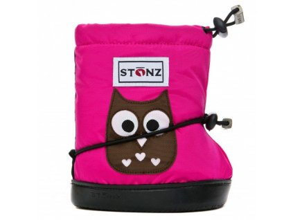 Stonz booties Toddler - Owl Fuchsia