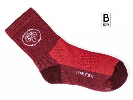 ponozky surtex aerobic 80 merino cervene