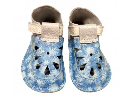 detske barefoot sandaly baby bare snowflake