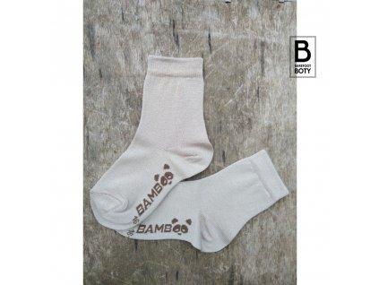 bambusove ponozky bobik bezove