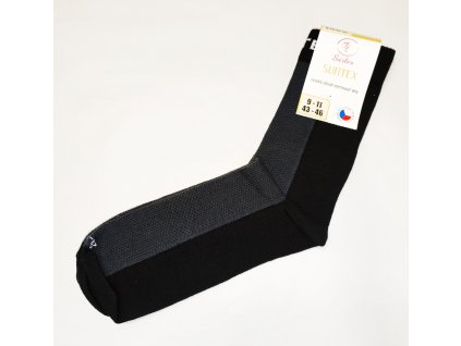 Ponožky Surtex 80% merino pro dospělé - černé JARO - PODZIM