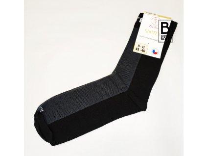 Ponožky Surtex 80% merino pro dospělé - černé
