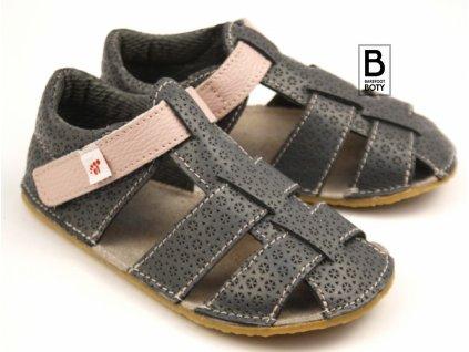 ef sandalky šedá růžová