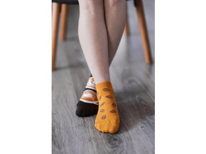 barefoot ponozky be lenka coffee