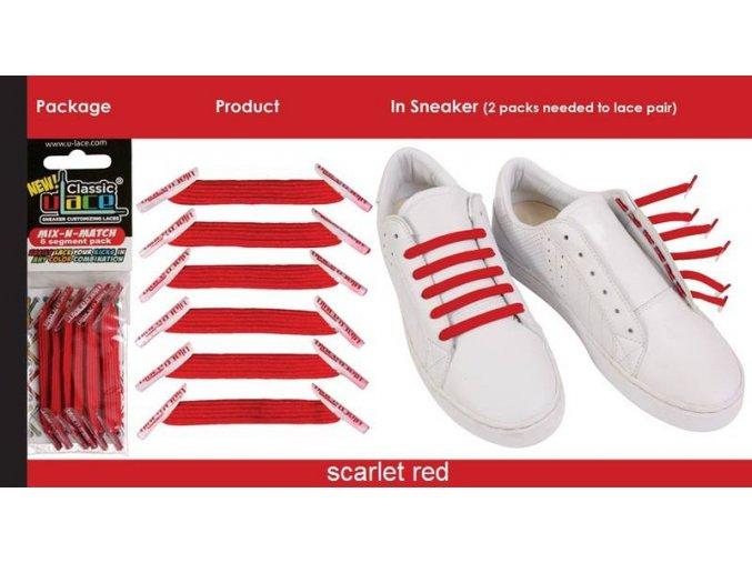 zázračné tkaničky červené
