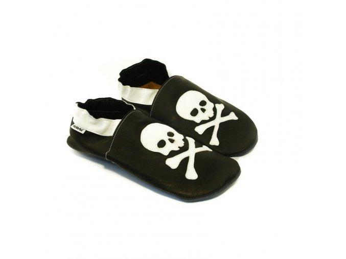 Capáčky Tomar - pirátské, bez podšívky s gumovou podrážkou