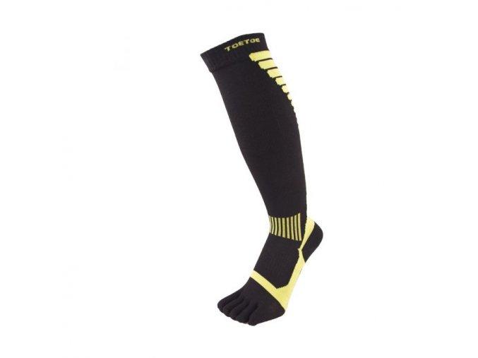 toe socks compression black green knee high 4 3