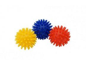 Kine-MAX masážní míček ježek 6cm - žlutý