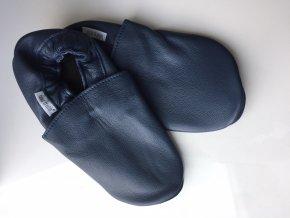 Capáčky Tomar - tmavě modré, bez podšívky s gumovou podrážkou