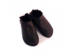 Capáčky Tomar - černé, bez podšívkys gumovou podrážkou
