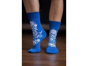 bl ponozky folk modre 4289 size large v 1