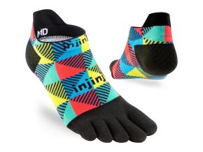 injinji run lightweight no show coolmax socks edge