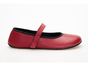 barefoot vegan balerinka cervena
