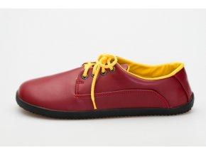 cervena spolecenska barefoot vegan obuv