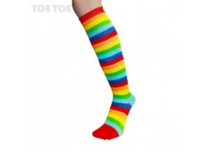 Rainbow Stripy Knee-High 35-46