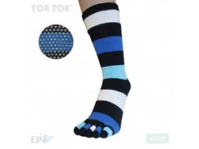 Denim Stripy Anti-Slip Mid-Calf 35-38