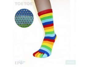 Rainbow Stripy Anti-Slip Mid-Calf 35-38