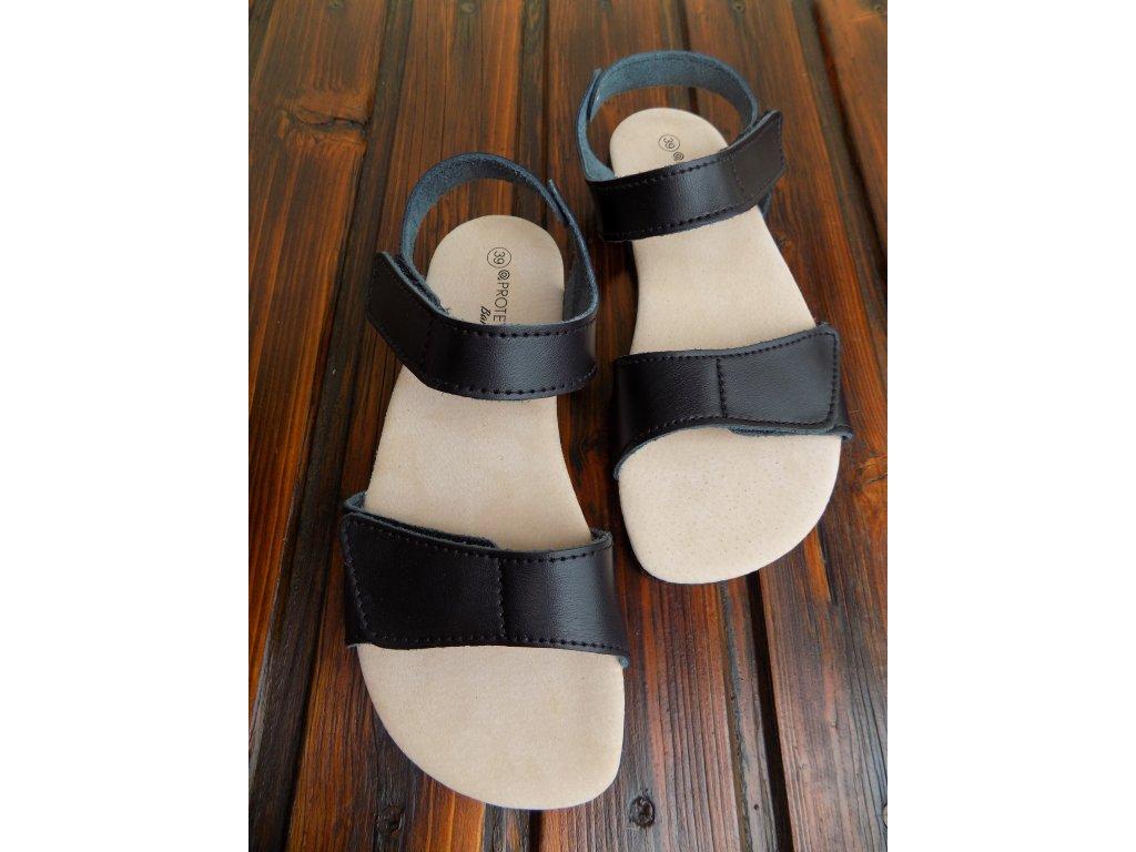 Protetika kožené barefoot sandále Belita černé