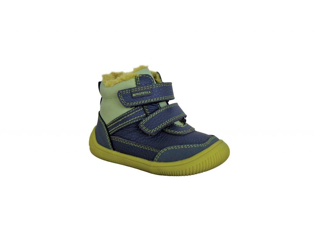 Protetika kožené zimní dětské boty TYREL green